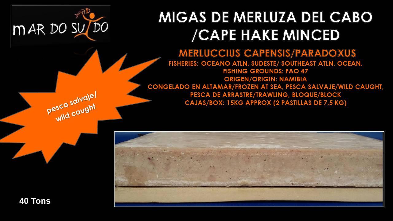 Migas de Merluza del Cabo / Cape Hake Minced