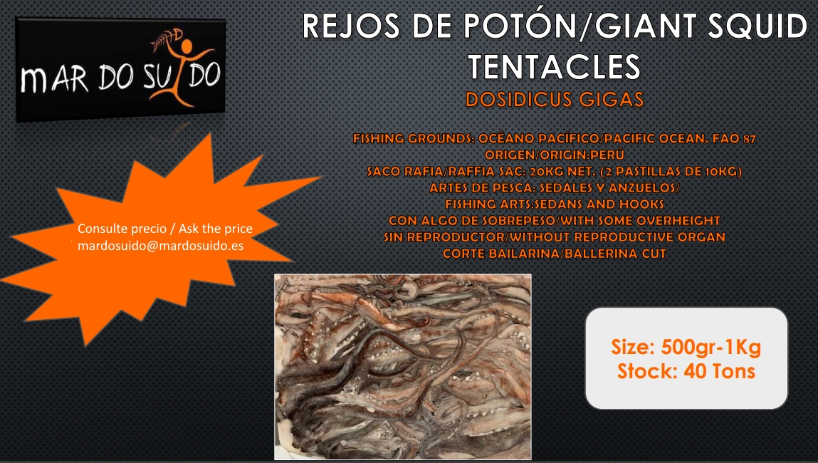 Oferta Destacada de Rejos de Potón - Giant Squid Tentacles Special Offer