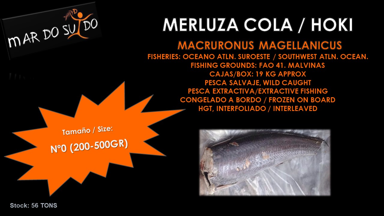 Oferta Destacada de Merluza Cola - Hoki Special Offer