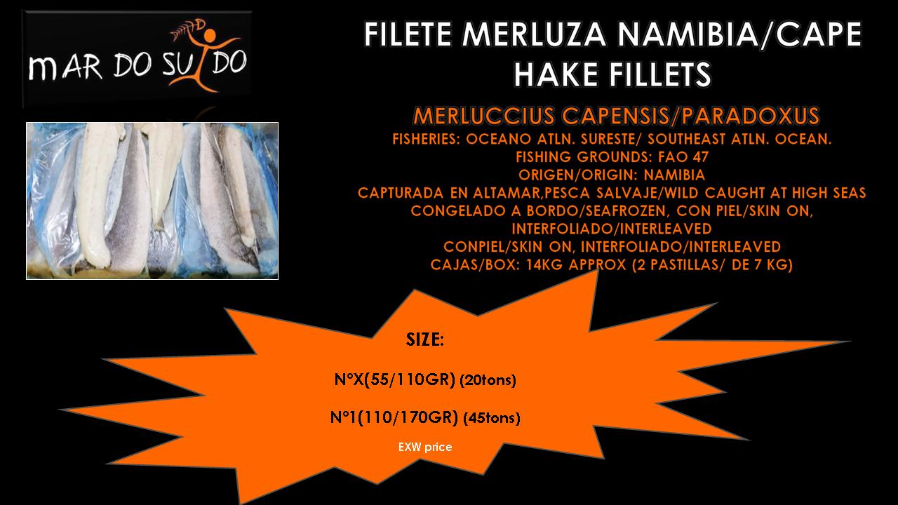 Oferta Destacada de Filete de Merluza Namibia - Cape Hake Fillets