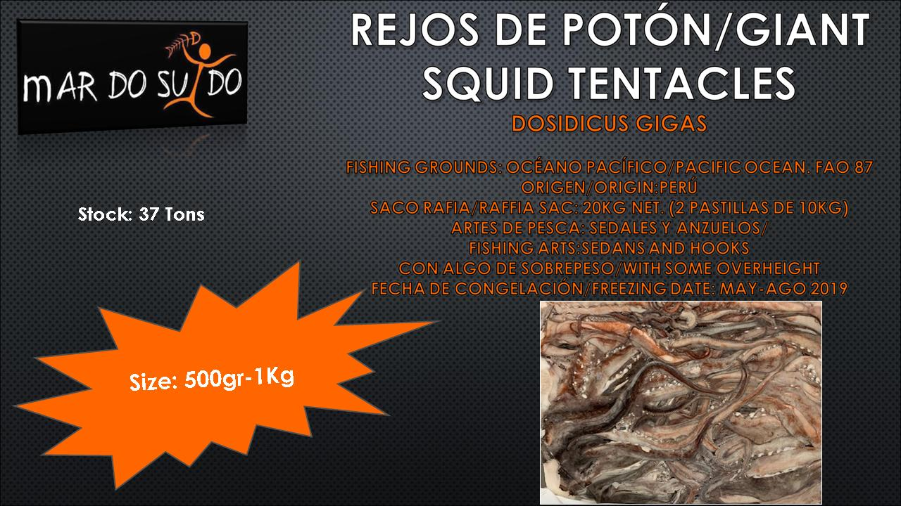 Oferta Destacada Rejos de Potón-Giant Squid Tentacles Offer